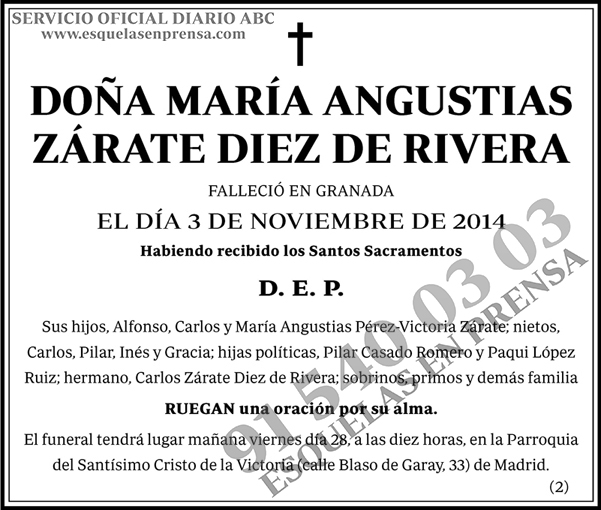 María Angustias Zárate Diez de Rivera